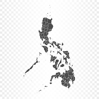 Philippinen karte isolierte wiedergabe