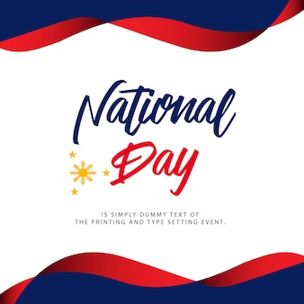 Philippinen national day illustration