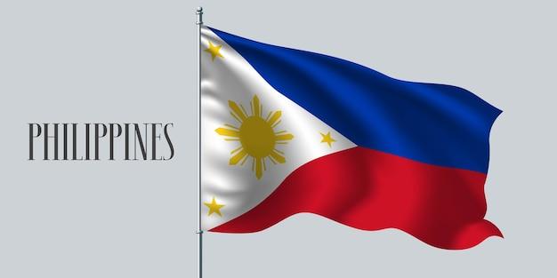 Philippinen winken flaggenillustration