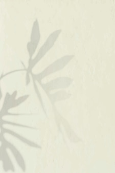 Philodendron radiatum blattmuster auf beigem hintergrund