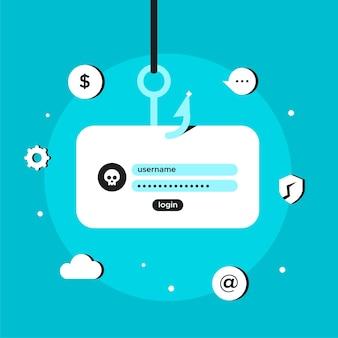 Phishing-konten hacken und stehlen