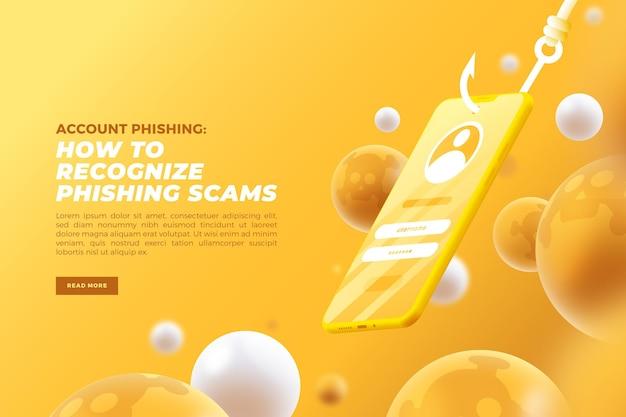 Phishing-konto-konzept