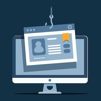 Phishing-konto mit gefälschten informationen