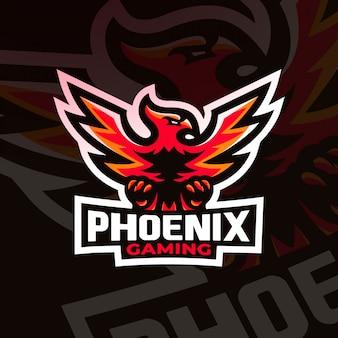 Phoenix bird gaming esport logo maskottchen