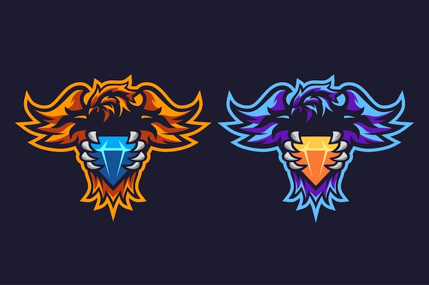 Phoenix diamond esport logo design