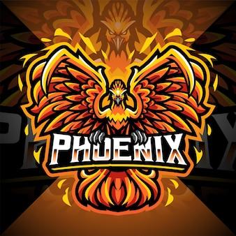 Phoenix-esport-maskottchen-logo-design