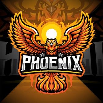 Phoenix esport maskottchen logo design