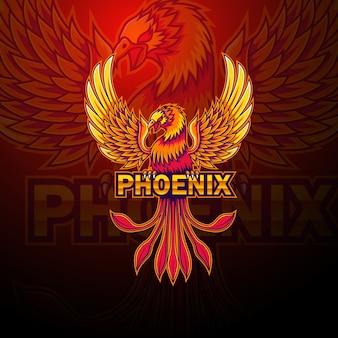 Phoenix esport maskottchen-logo-design