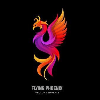 Phoenix-konzept entwirft illustrationsvektorschablone