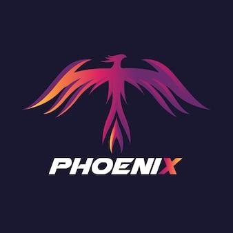 Phoenix logo, eagle und vogel logo symbol. vektor-logo-vorlage.