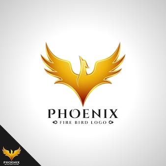 Phoenix logo mit brave bird logo konzept