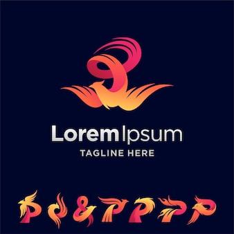 Phoenix-logo-set mit mehreren formen