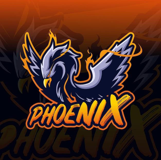 Phoenix maskottchen esport-logo