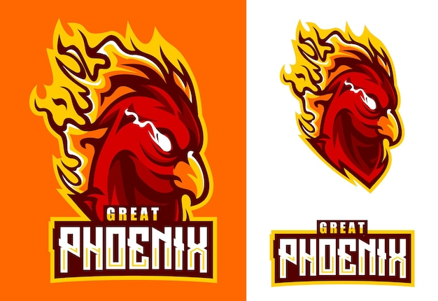 Phoenix maskottchen esport logo