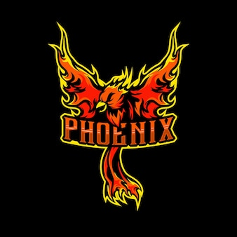 Phoenix maskottchen logo esports inspiration
