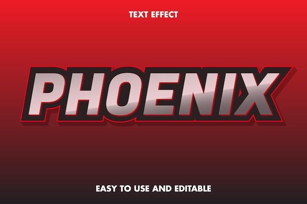 Phoenix-texteffekt. einfach zu bedienen und bearbeitbar.