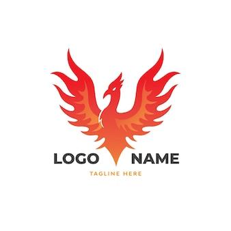 Phoenix-vogel-logo-vorlage