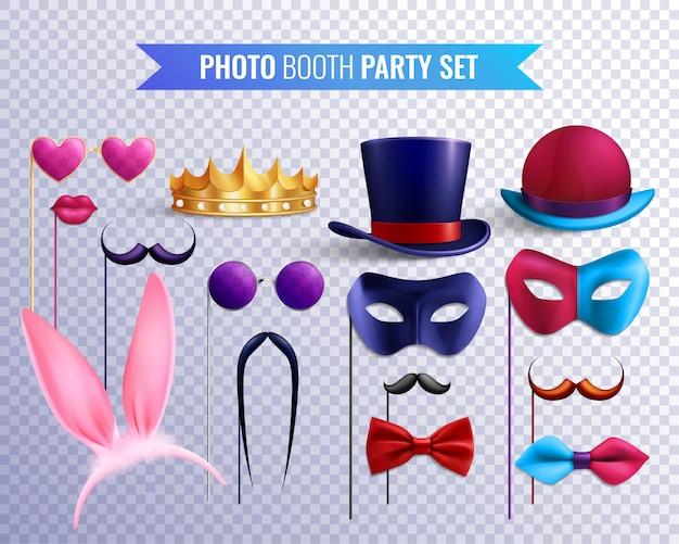Photo booth party durchsichtig