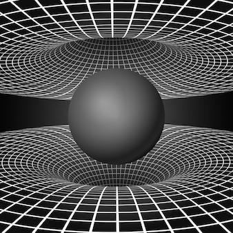Physik - anomales phänomen des schwarzen lochs