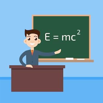 Physiklehrer im klassenzimmer