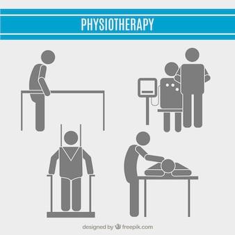 Physiotheraphy piktogramm sammlung