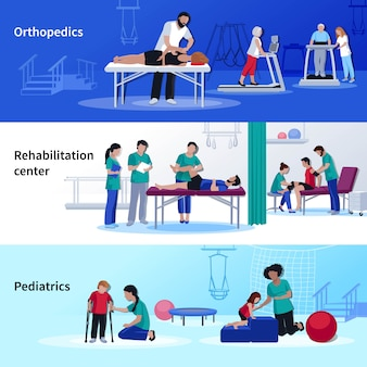 Physiotherapie rehabilitation 3 flat horizontal center