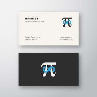 Pi-symbol mit unendlichkeitszeichen abstraktes zeichen