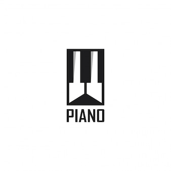 Piano logo vorlage design. illustration. abstrakte piano web icons und logo.