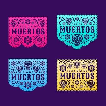 Picado-papierkollektion mit farbverlauf