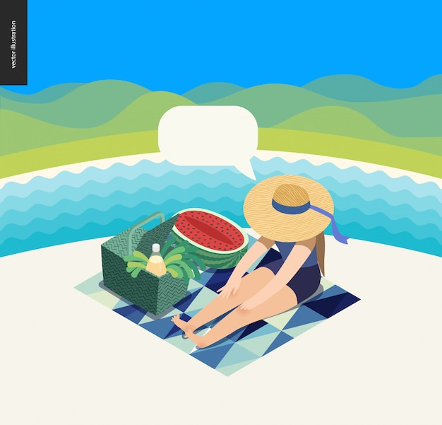 Picknick-bild
