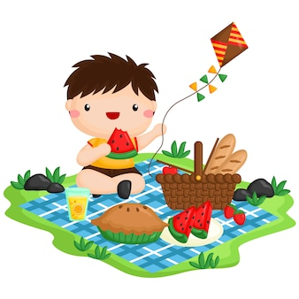 Picknick-junge