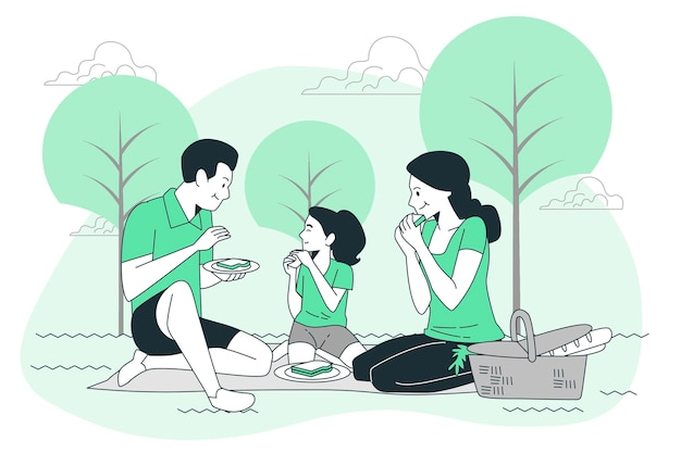 Picknick-konzept illustration
