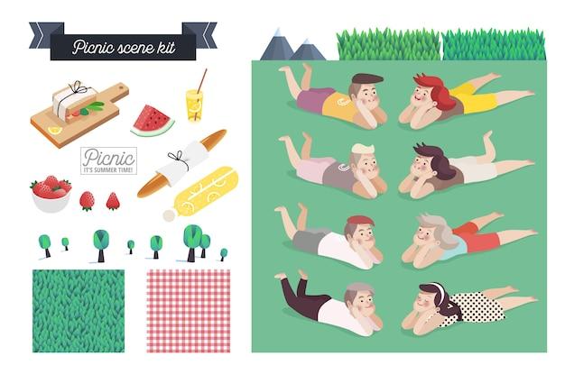 Picknick-szene-kit