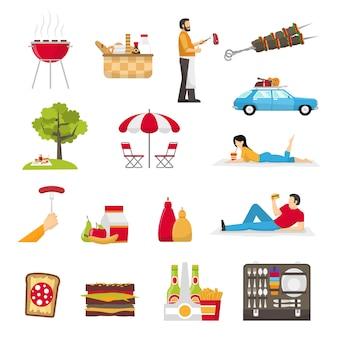 Picknick und barbecue-set