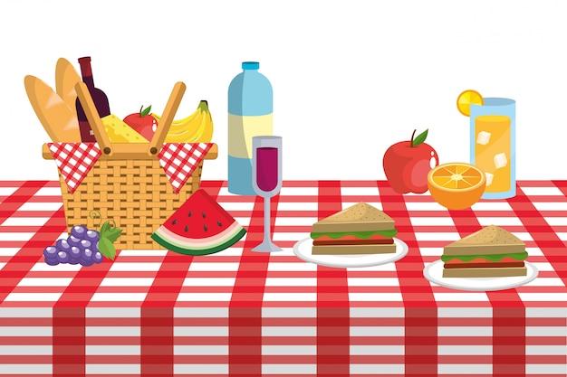 Picknick und essen