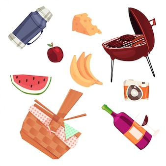 Picknickausrüstung im sommer