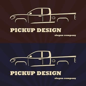 Pickup truck auto. vektor-illustration