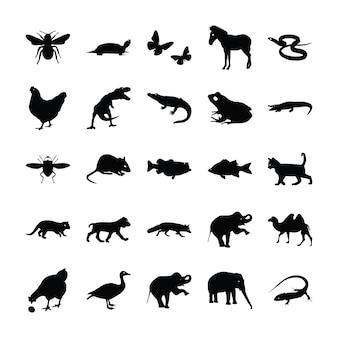 Piktogramme für wilde tiere