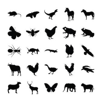 Piktogramme von tieren