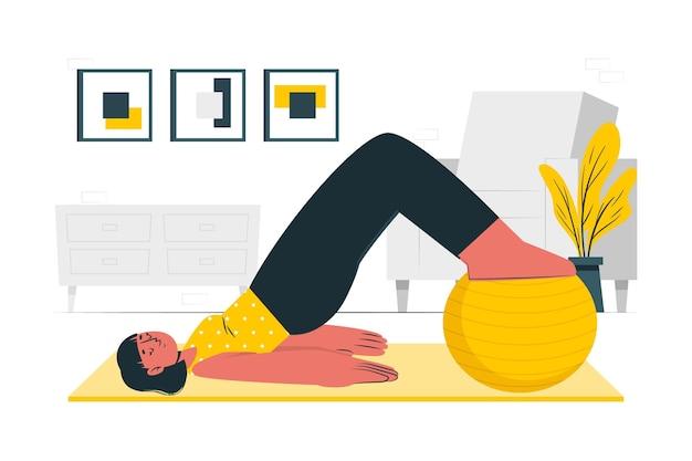 Pilates-konzeptillustration