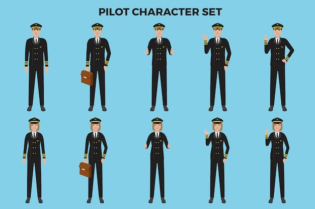 Pilot illustration set
