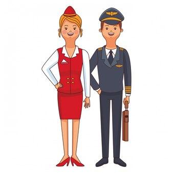 Pilot und stewardess-avatar