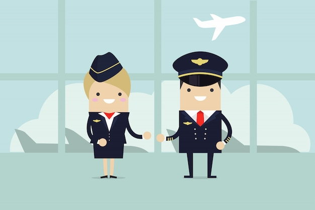 Piloten und stewardessen sind willkommen.