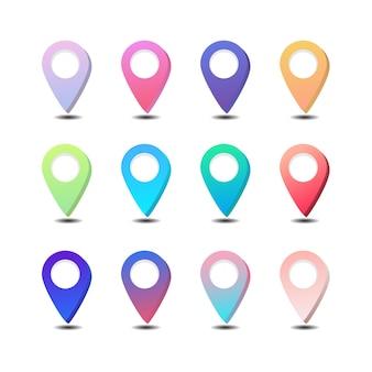 Pin karte ort standort symbol vektor pin abzeichen farbverlauf