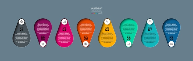 Pin modernes infografik-design Premium Vektoren