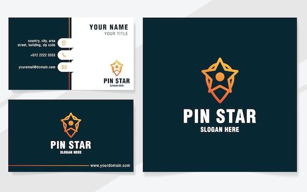 Pin-stern-logo-vorlage im modernen stil