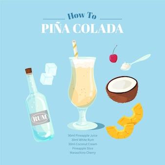 Pina colada cocktail rezept