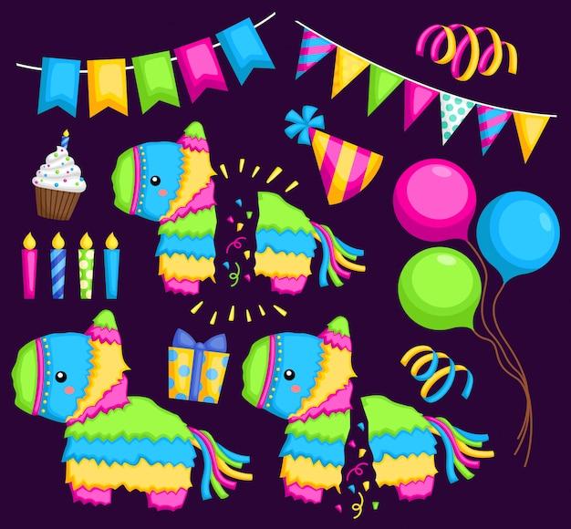 Pinata und partyartikel