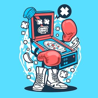 Pinball boxer cartoon