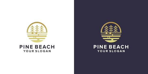Pine beach logo-design